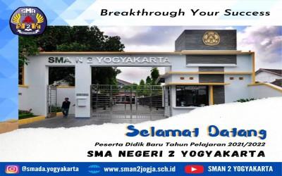 Pemberitahuan dan Susunan Acara MPLS Daring SMAN 2 Yogyakarta Tahun 2021